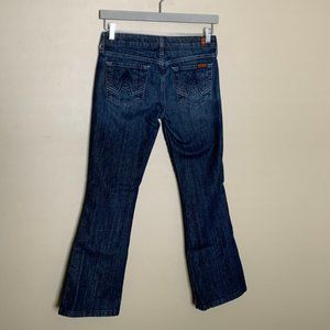 7 For All Mankind A Pocket Dark Wash Flare Jeans